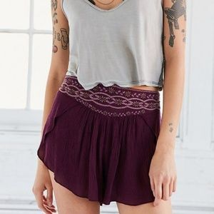 Ecote Embroidered Shorts